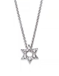Roberto Coin Tiny Treasures Diamond And 18K White Gold Star Of David Necklace