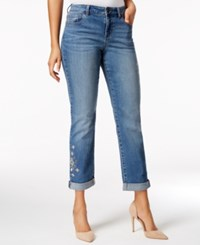 Styleandco. Style Co. Petite Embroidered Camino Wash Boyfriend Jeans Only At Macy's