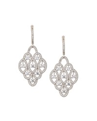 Fantasia Pave Cz Crystal Chandelier Drop Earrings Women's