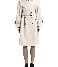 J.W.Anderson J.W. Anderson Cotton Drill Trench Coat Cream