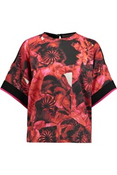 Preen Ayres Printed Stertch Jersey Top Red