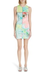 Eckhaus Latta Tie Dye Velour Minidress Candy Crush