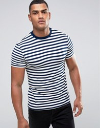 Another Influence Striped Chest Pocket T Shirt White