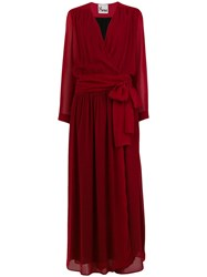 8Pm Loose Fitted Log Dress Red