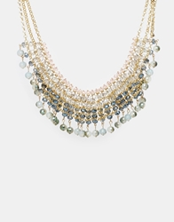 Love Rocks Faceted Bead Statement Necklace Blue