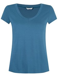 Lygia And Nanny V Neck T Shirt Blue