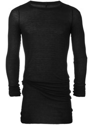 Rick Owens Long Sleeve T Shirt Black