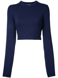 Michael Kors Classic Cashmere Sweater Blue