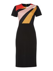 Therapy Veda Colourblock Dress Black