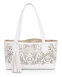 Buco Small Crochet Tote White Gold
