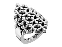 King Baby Studio Mb Cross Shield Ring Silver