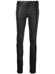 Haider Ackermann Slim Fit Biker Leggings Black