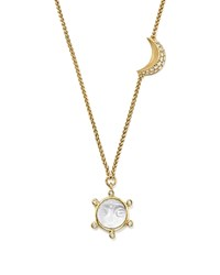 Temple St. Clair 18K Yellow Gold Celestial Crystal Charm Necklace With Diamonds 100 Exclusive White Gold