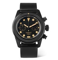 Unimatic U3 An Dlc Coated Brushed Stainless Steel And Horween Cordovan Shell Leather Watch Black