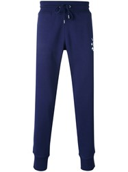 Love Moschino Logo Print Drawstring Sweatpants Men Cotton S Blue