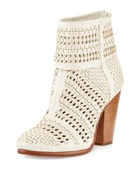 Rag And Bone Classic Newbury Woven Leather Bootie Ivory