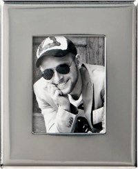 Cb2 Mini Stainless Steel Magnetic Picture Frame