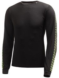 Helly Hansen Dry Stripe Base Layer Crew Top Black