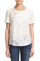 Women's Equipment 'Riley' Fil Coupe Cotton And Silk Tee Bright White