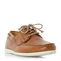 Dune Belize Lace Up Boat Shoes Tan