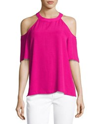 Cynthia Steffe Cold Shoulder Swing Tank Vivid Rose