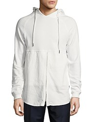 Publish Solid Cotton Blend Hoodie White