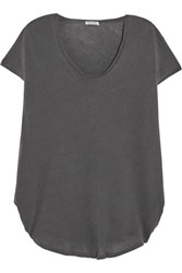 Splendid Supima Cotton Jersey T Shirt Dark Gray