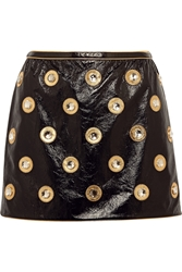Marc Jacobs Embellished Patent Leather Mini Skirt