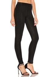 David Lerner Quilted Tuxedo Legging Black