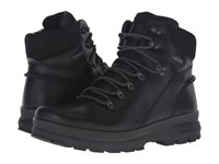 Ecco Rugged Track Gtx High Black Black Men's Lace Up Boots