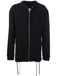 Faith Connexion Lace Up Side Hoodie Black