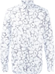 Neil Barrett Leopard Print Shirt White