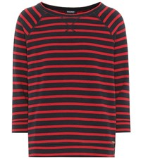 Woolrich Striped Cotton Sweater Red