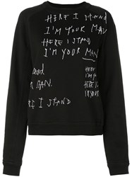 Haider Ackermann I'm Your Man Sweatshirt Black