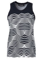 Neil Barrett Graphic Print Tank Top Blue