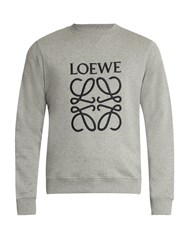 Loewe Logo Embroidered Sweatshirt Grey