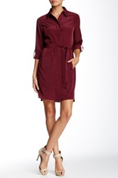 Zoa Princess Line Shirtdress Red