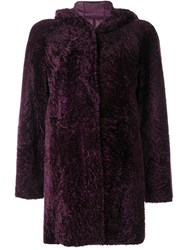 Drome Hooded Jacket Pink And Purple
