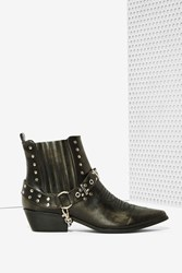 Nasty Gal Yru Laso Vegan Leather Boot
