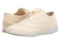 Cole Haan Grand Tour Oxford Sandshell Suede Optic White Women's Lace Up Casual Shoes Beige