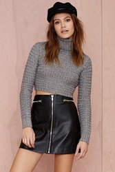 Nasty Gal Sophie Metallic Turtleneck Sweater