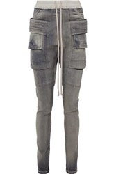 Rick Owens Creatch High Rise Tapered Jeans Anthracite