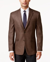 Tommy Hilfiger Brown Houndstooth Classic Fit Sport Coat
