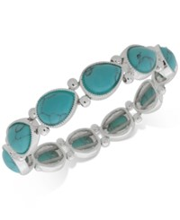 Nine West Colored Stone Stretch Bracelet Turquoise