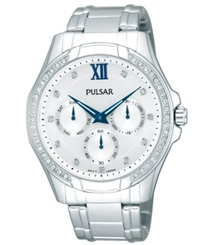 Pulsar Women's Stainless Steel Bracelet Watch 39Mm Pp6099 Women's Shoes