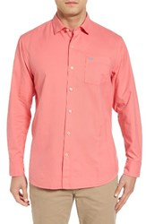 Tommy Bahama Men's Big And Tall 'Islant Twill' Sport Shirt Candy Rose
