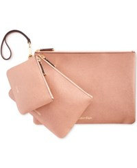Calvin Klein Saffiano Assorted Pouches Deep Blush