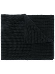 Dolce And Gabbana Cable Knit Scarf Black
