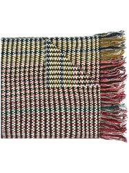 Isabel Marant Oversize Check Detail Scarf Multicolour
