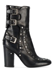 Laurence Dacade Merli Star Studded Boots Women Leather 36 Black